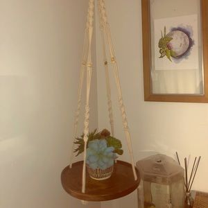 Other - Macrame hanging shelf